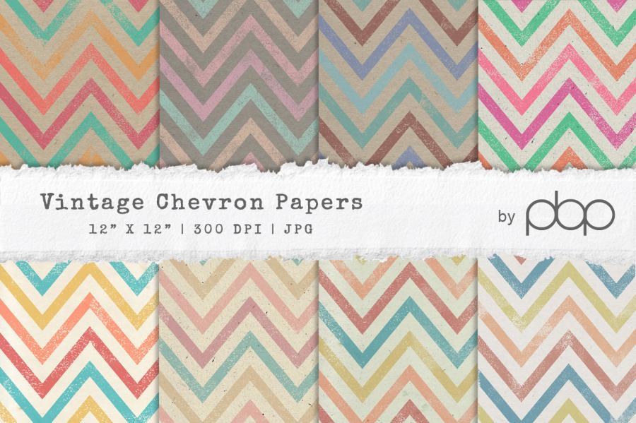 Vintage Chevron Paper Textures