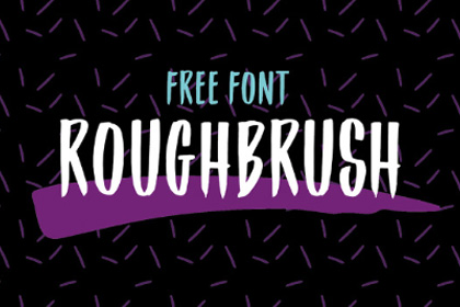 Roughbrush Display Free Typeface