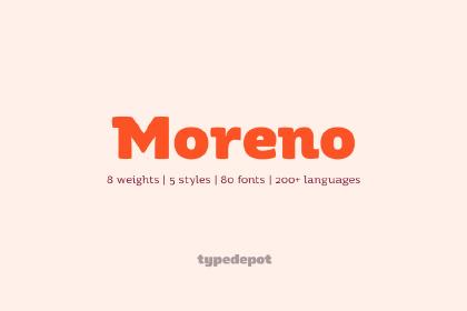 Moreno Free Type Family
