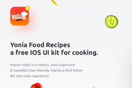 Yonia Free Food Recipe UI Kit
