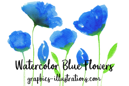 Free Watercolor Blue Flower