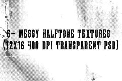 6 Messy Halftone Textures