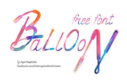 Balloon Free Artistic Typeface