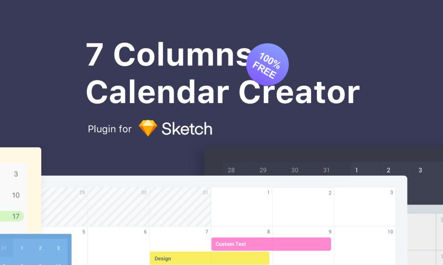 7 Columns Calendar Creator