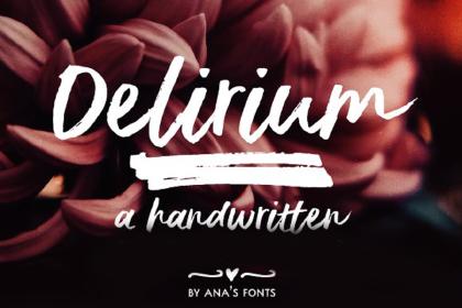 Delirium Brush Free Demo Font
