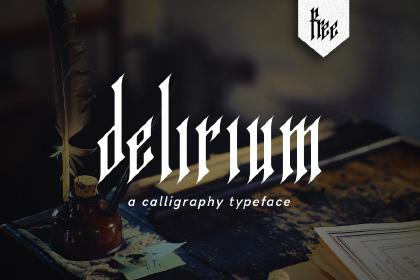 Delirium Free Handmade Typeface