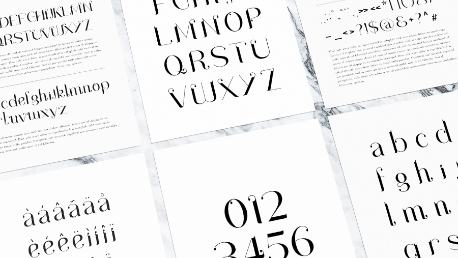 Drops Display Serif Typeface