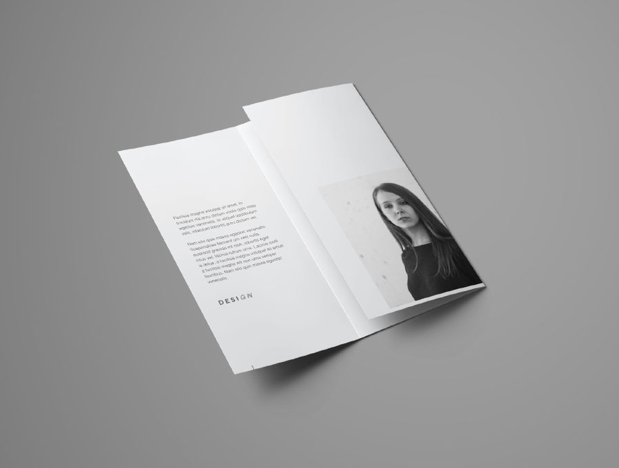 Free Realistic Trifold Brochure Mockup