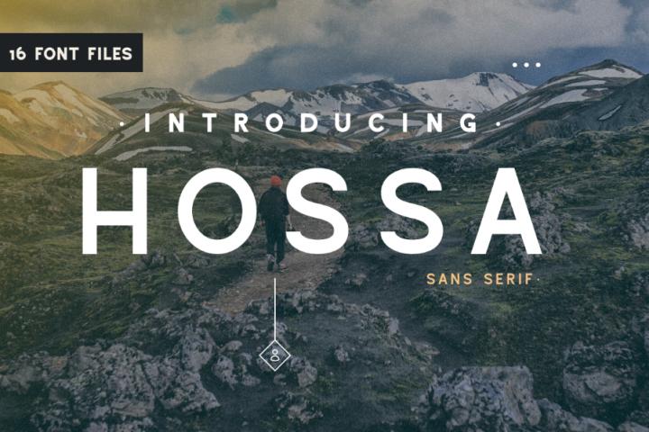 Hossa Sans Serif Family Demo