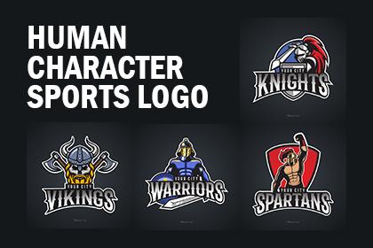 Human Character Sports Logo