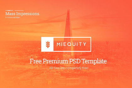MIEQUITY Free Website PSD Template