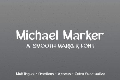 Michael Marker Font Demo