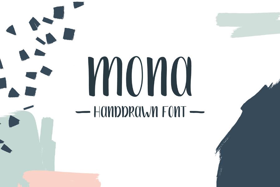 Mona Free Handdrawn Font