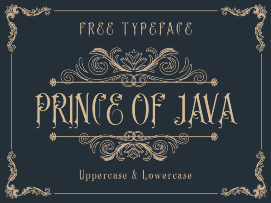 Prince of Java Free Typeface