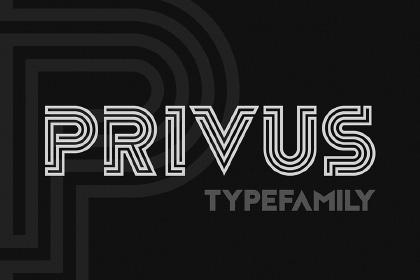 Privus Free Display Typefamily