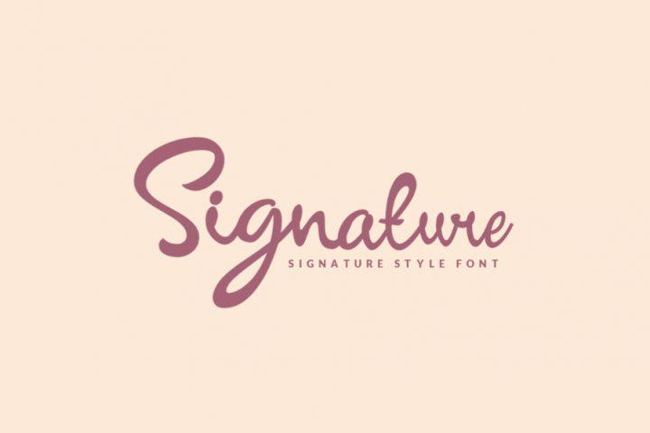 Signature Script Free Demo