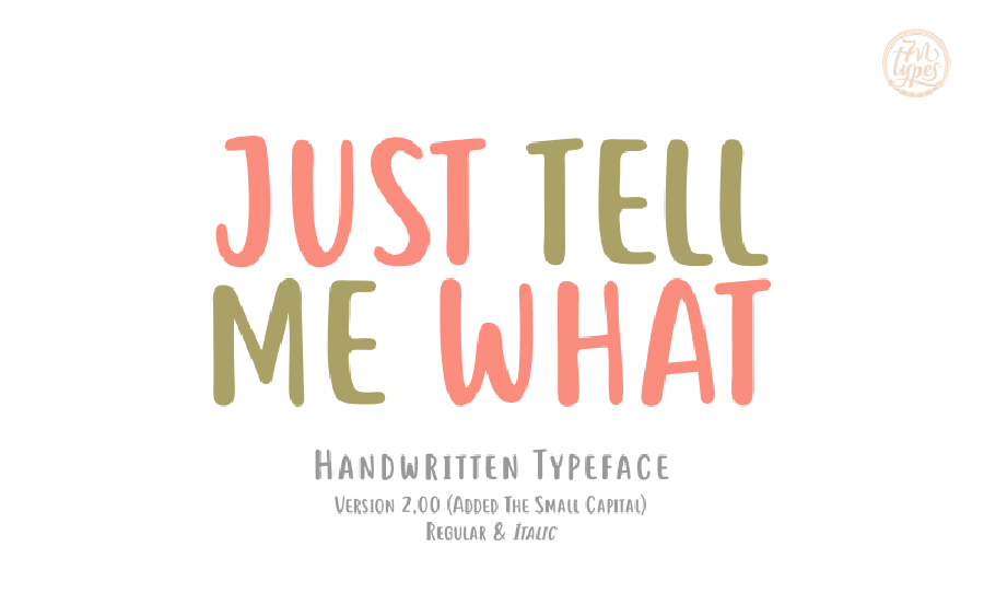 Just Tell Me Handwriting Demo Font