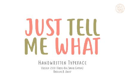Tell Me Handwriting Demo Font