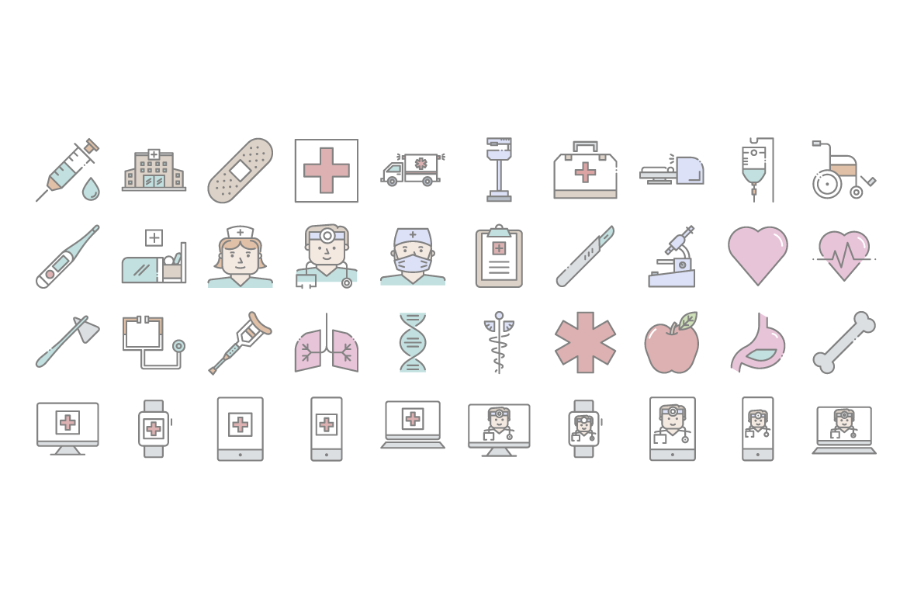 Free 20 Linear Doctor Icon Set