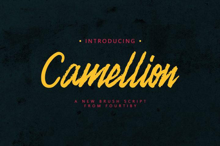 Camellion Brush Free Typeface