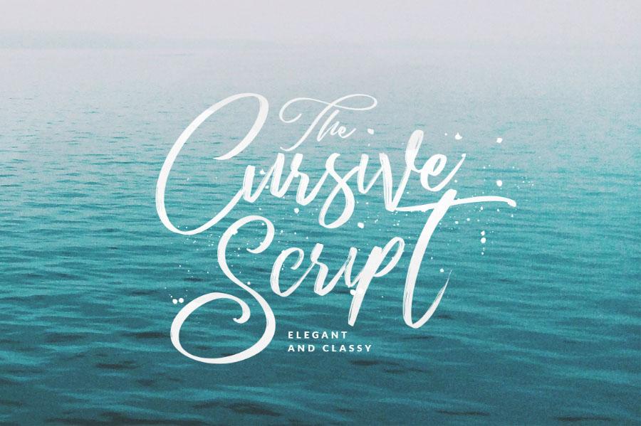 cursive font
