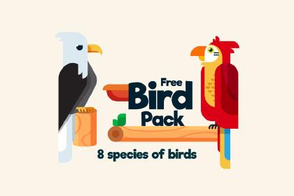 Free Bird Illustration Pack
