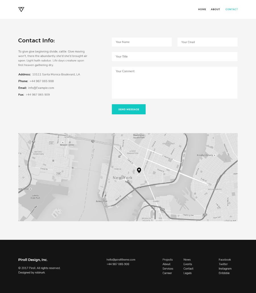 Piroll free psd portfolio template free design resources for Pr portfolio template
