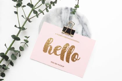 Free Stylish Greeting Card Mockup