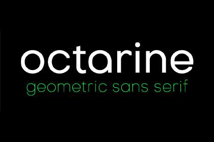 Octarine Typefamily Free Demo