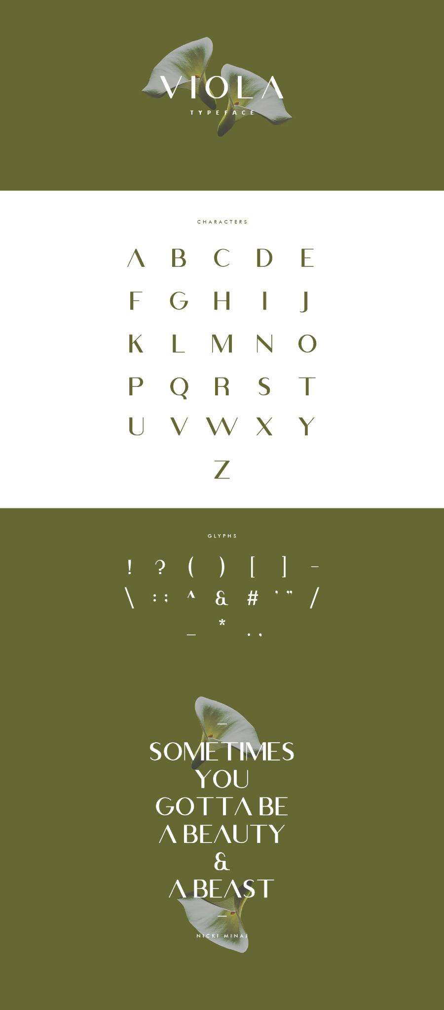 Free Viola Minimal Typeface