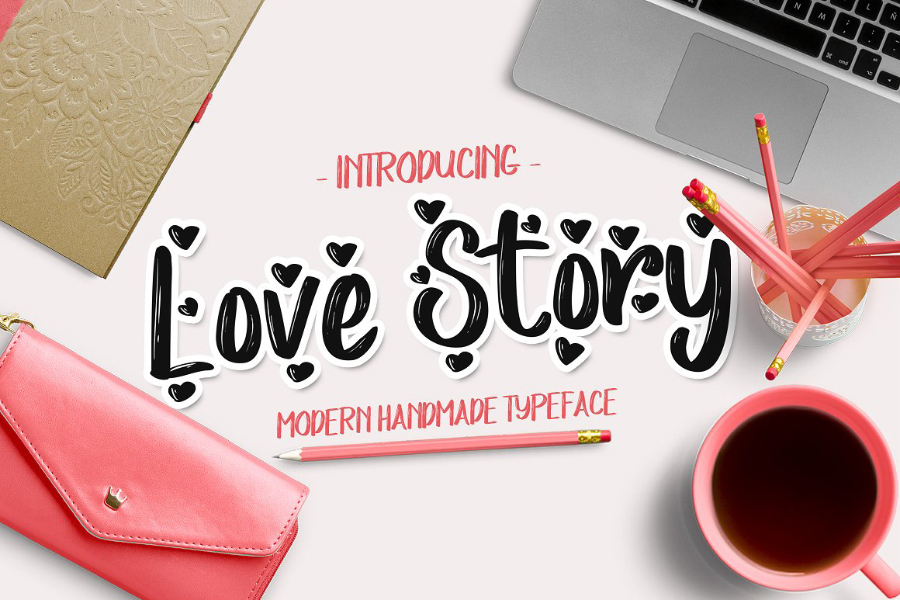 Love Story Handwriting Font