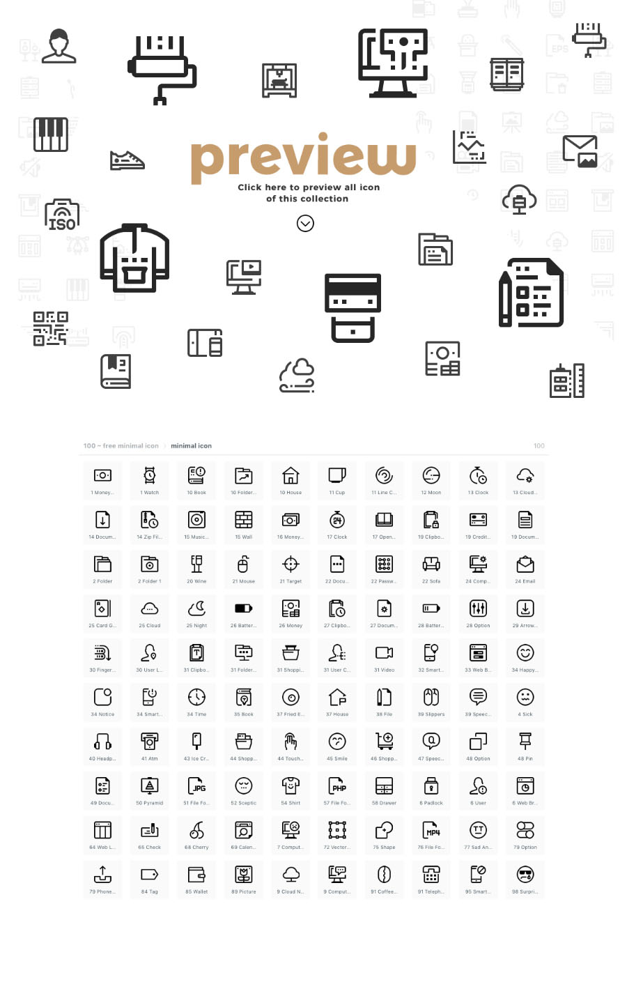 100 Essential Minimal Icons