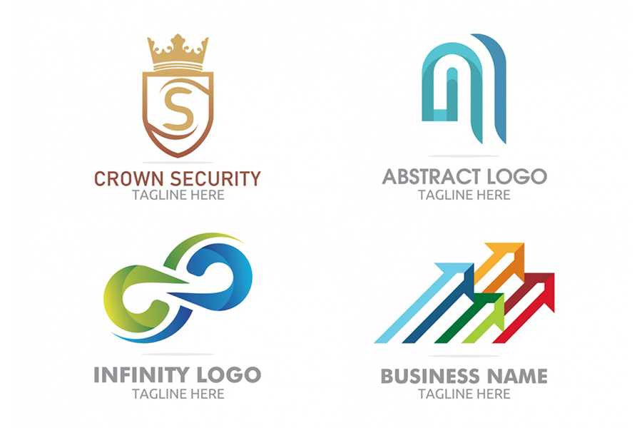 4 free colorful logo templates - Free Templates