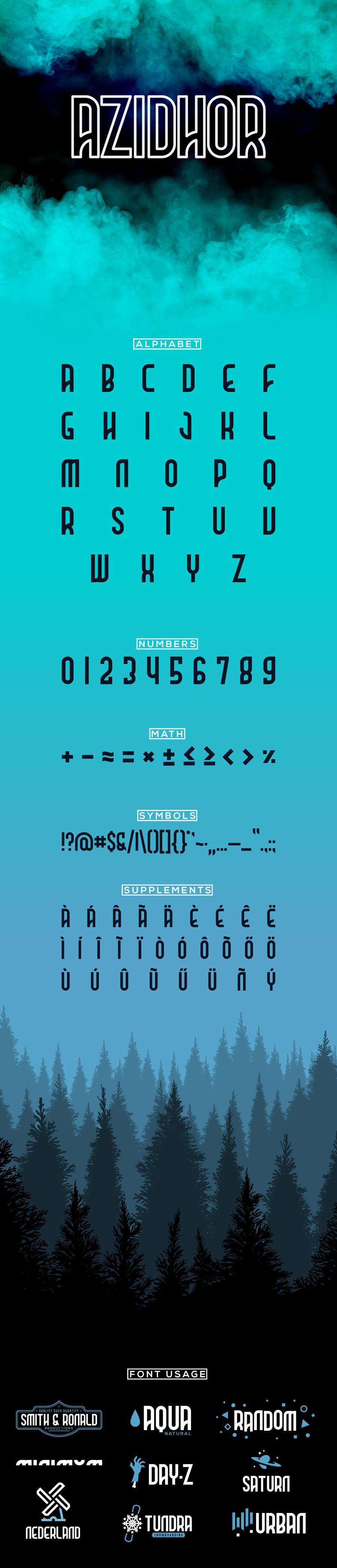 Azidhor Display Free Typeface