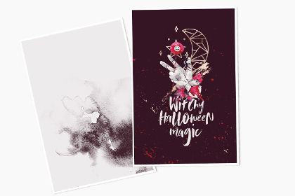 Bloody Halloween Greeting Card