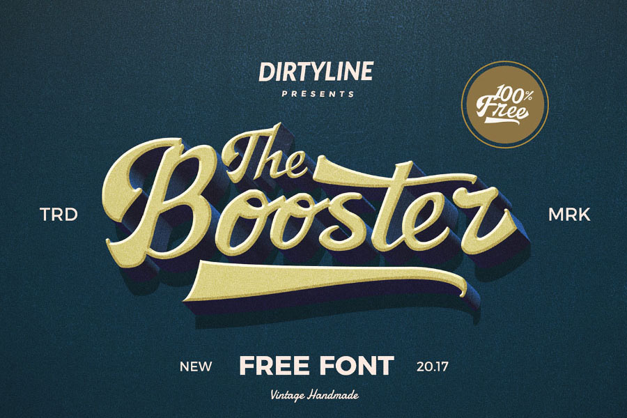 The Booster Free Typeface