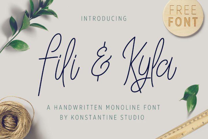 Kyla Monoline Free Font