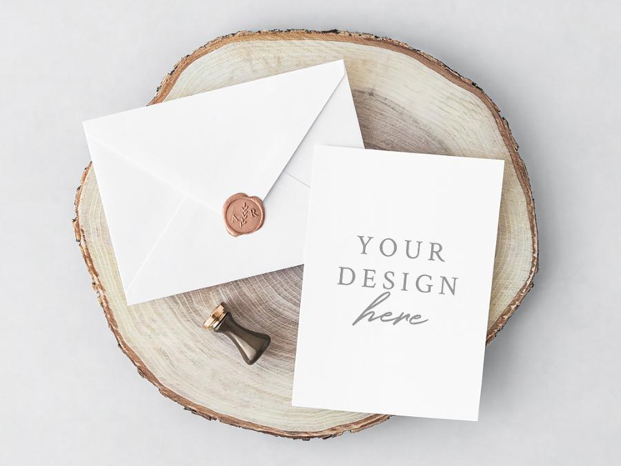 Free psd invitation card envelope free design resources free psd invitation card envelope stopboris Images