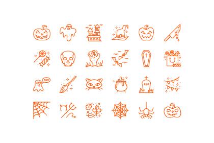 Minimal Halloween Icon Pack