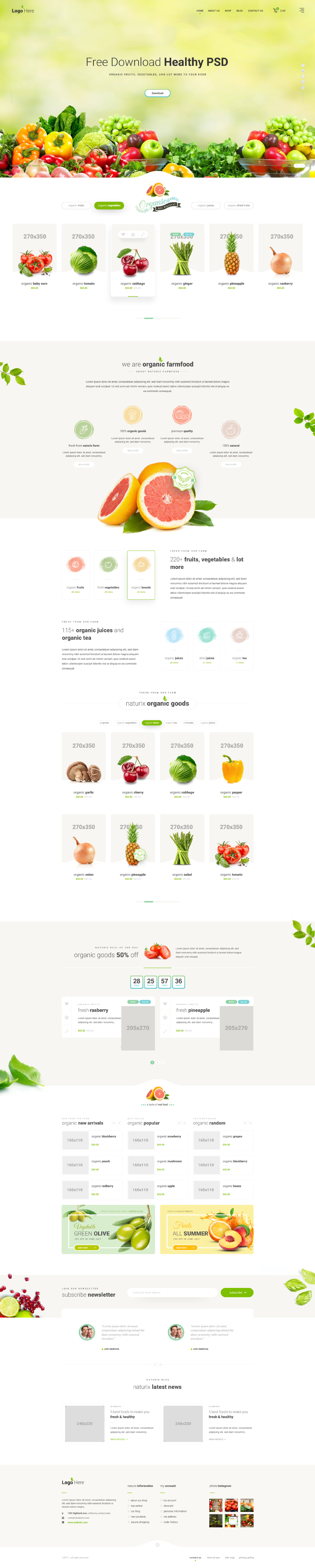 Healthy Free PSD Template