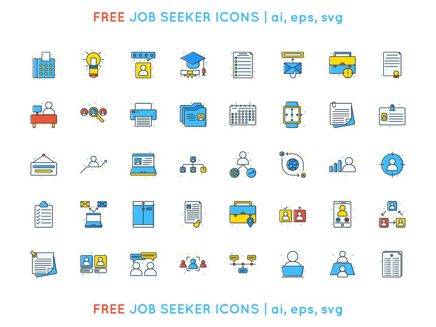 Free Job Seeker Icon Pack