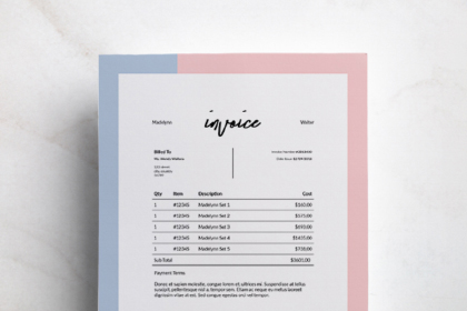 Madelynn Free Invoice Template