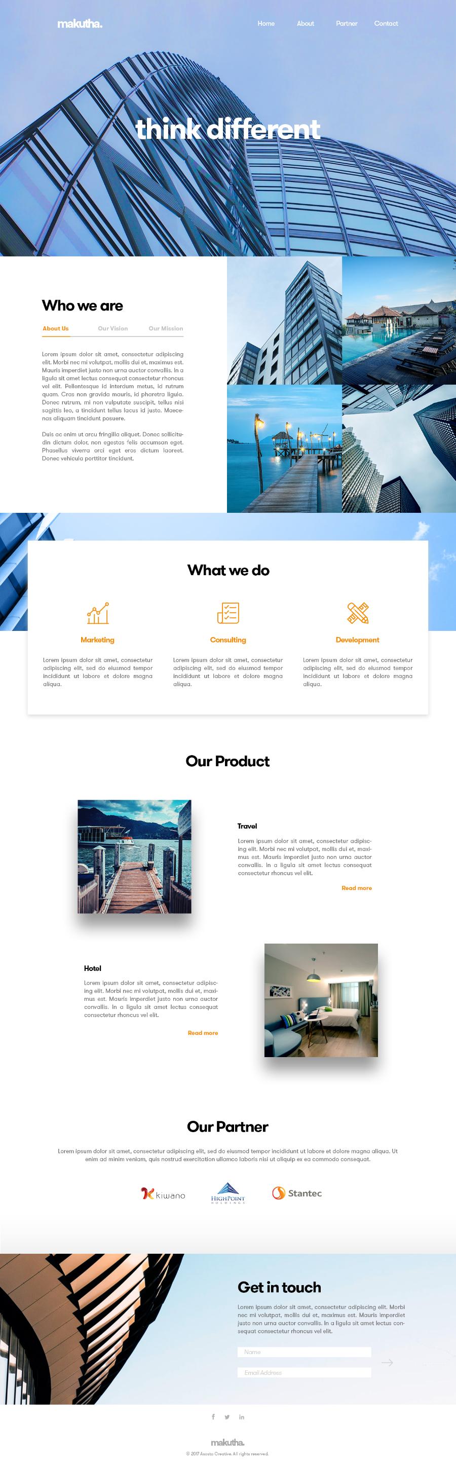 Makutha Free Business Web Template