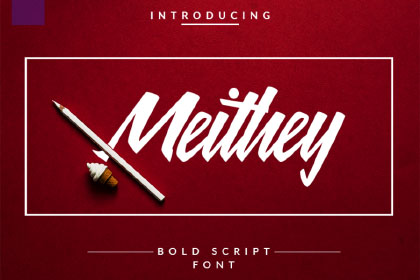Free Meithey Bold Script Font