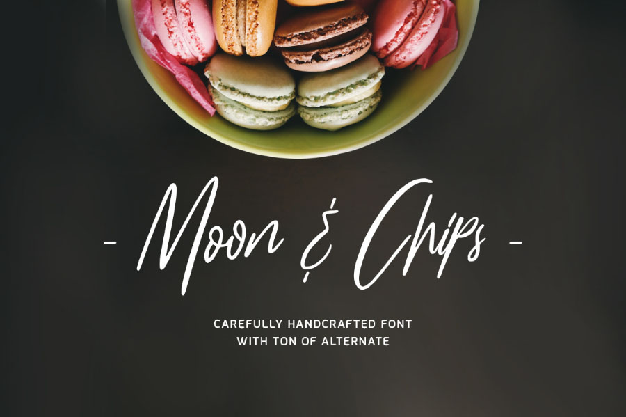 Moon & Chip Free Hand-drawn Font