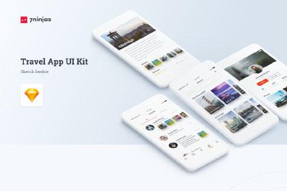 Travel App Free Sketch UI Kit