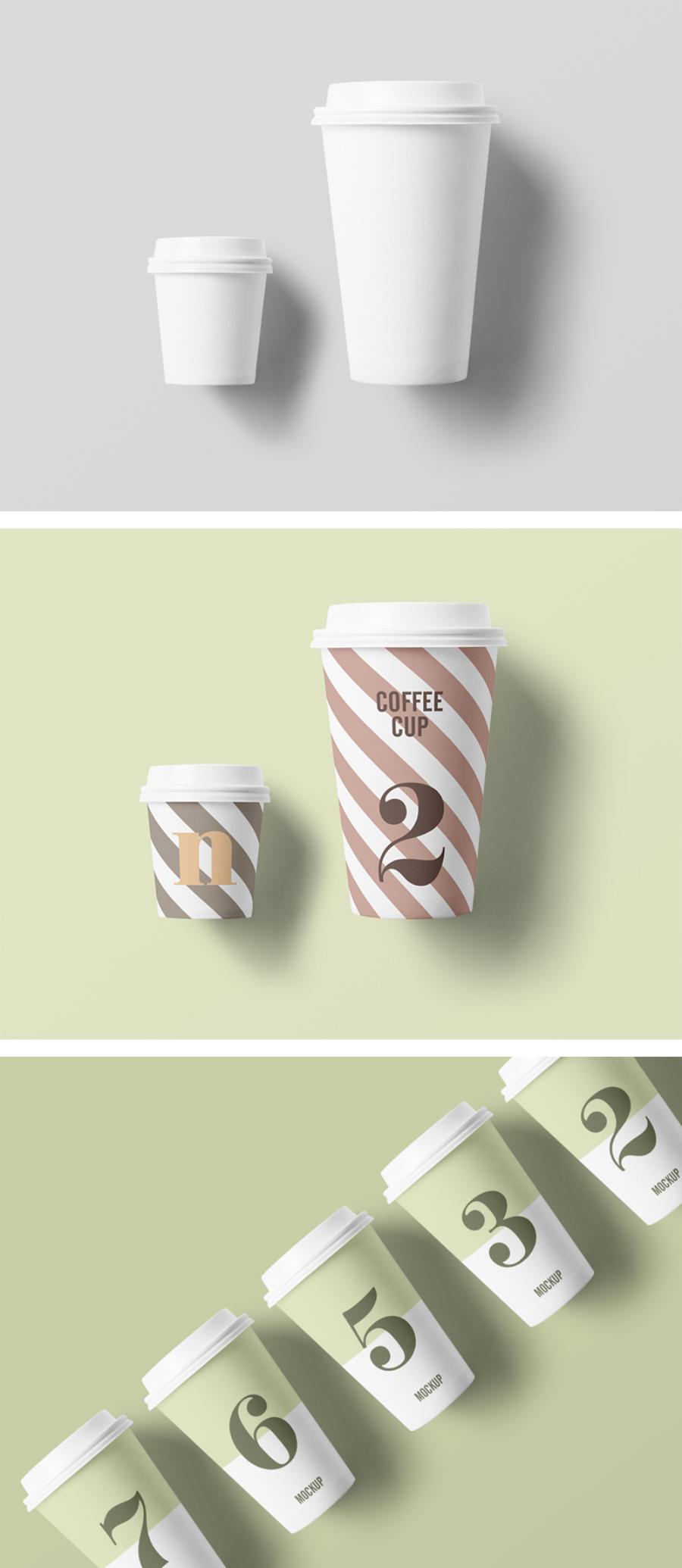Free Fine Paper Cup Mockup