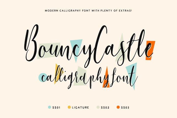 Bouncy Castle Font Demo