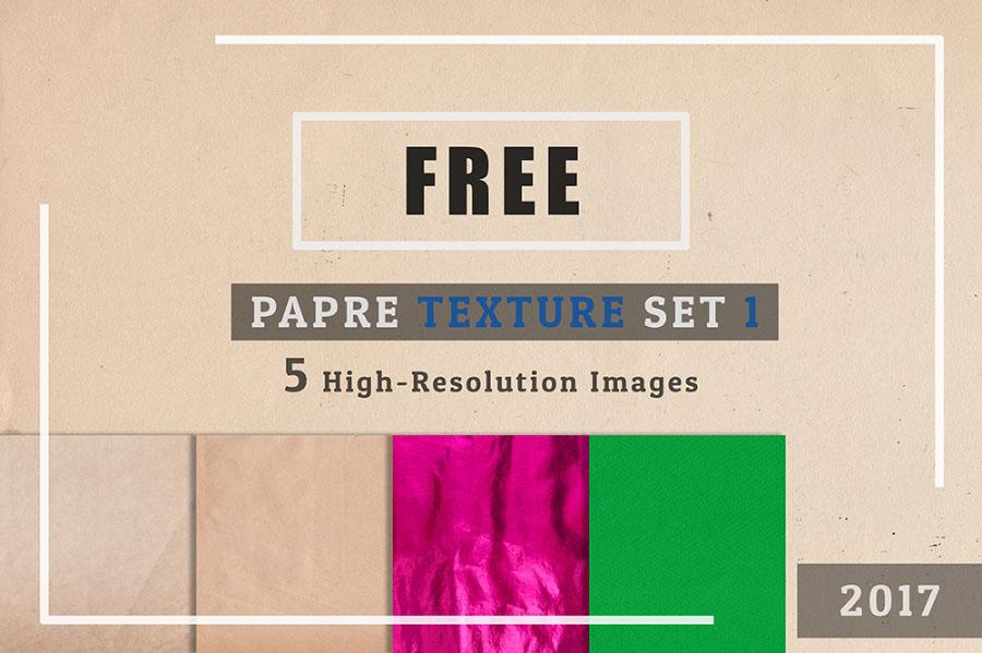5 Free Paper Texture Set