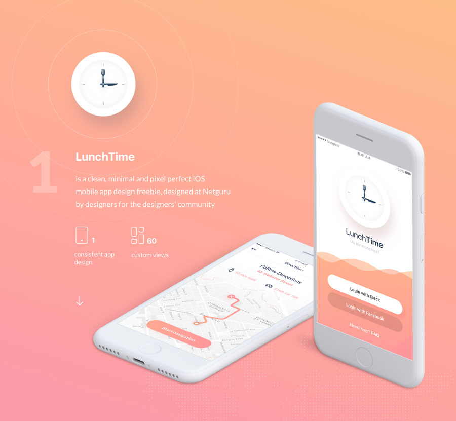 Mobile App Character Design : Lunchtime mobile app design — free resources